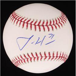 Josh Hader Signed OML Baseball (PSA COA)