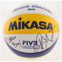 "Kerri Walsh Jennings Signed Mikasa Volleyball Inscribed ""Dream Big!"" (PSA COA)"