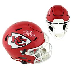 Travis Kelce Signed Kansas City Chiefs Full-Size Authentic On-Field SpeedFlex Helmet (Radtke COA)