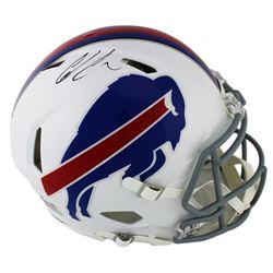 Ed Oliver Signed Buffalo Bills Full-Size Speed Helmet (Radtke COA)