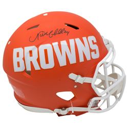Nick Chubb Signed Cleveland Browns Full-Size Authentic On-Field AMP Alternate Speed Helmet (JSA COA)