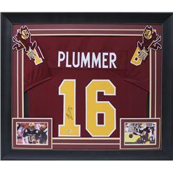"Jake Plummer Signed 32x37 Custom Framed Jersey Display Inscribed ""Snake"" (Beckett COA)"