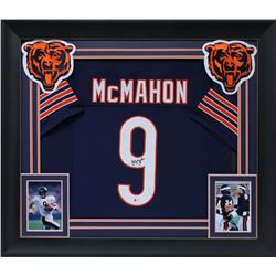Jim McMahon Signed 32x37 Custom Framed Jersey Display (Beckett COA)