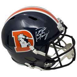 Peyton Manning Signed Denver Broncos Full-Size Speed Helmet (Fantaics Hologram)