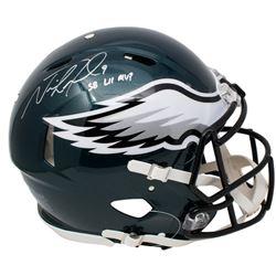 "Nick Foles Signed Philadelphia Eagles Full-Size Authentic On-Field Speed Helmet Inscribed ""SB LII MV"
