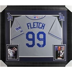 Chevy Chase Signed Los Angeles Dodgers 32x37 Custom Framed Jersey Display (Beckett COA)