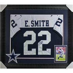 Emmitt Smith Signed 32x37 Custom Framed Jersey Display (PSA COA)