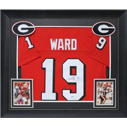 Hines Ward Signed 32x37 Custom Framed Jersey Display (Beckett COA)