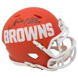 Nick Chubb Signed Cleveland Browns AMP Alternate Speed Mini Helmet (JSA COA)