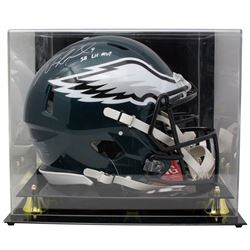 Nick Foles Signed Philadelphia Eagles Full-Size Authentic On-Field Speed Helmet with Display Case In