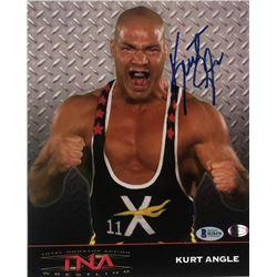 Kurt Angle Signed TNA 8x10 Photo (Beckett COA)