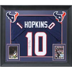 DeAndre Hopkins Signed 32x37 Custom Framed Jersey Display (JSA COA)