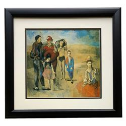 """Pablo Picasso """"Family Of Saltimbanques"""" 18x20 Custom Framed Photo Print"""