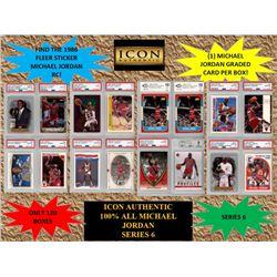ICON AUTHENTIC  100% MICHAEL JORDAN MYSTERY BOX SERIES - 6  (Guaranteed Michael Jordan PSA or Becket