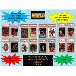 ICON AUTHENTIC  100% MICHAEL JORDAN MYSTERY BOX SERIES - 7  (Guaranteed Michael Jordan PSA or Becket