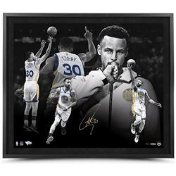 "Stephen Curry Signed Golden State Warriors ""MVP"" 20x24 Custom Framed LE Photo (UDA COA)"
