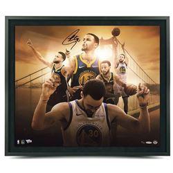 "Stephen Curry Signed Golden State Warriors ""Golden State"" 20x24 Custom Framed LE Photo (UDA COA)"
