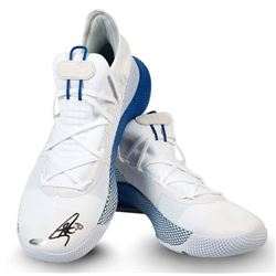 Stephen Curry Signed Under Armour Curry 6 Basketball Shoes (UDA COA)