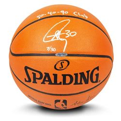 """Stephen Curry Signed LE Official NBA Game Ball Basketball Inscribed """"50-40-90 Club"""" (UDA COA)"""