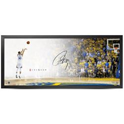 Stephen Curry Signed Golden State Warriors 20x46 Custom Framed Photo (UDA COA)