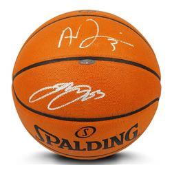 LeBron James  Anthony Davis Signed Official NBA Game Ball Basketball (UDA COA)