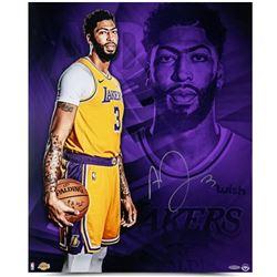 Anthony Davis Signed Los Angeles Lakers 20x24 Photo (UDA COA)