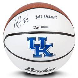 "Anthony Davis Signed LE Kentucky Wildcats Logo Basketball Inscribed ""2012 CHAMPS"" (UDA COA)"