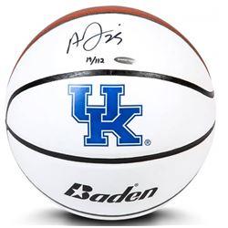 Anthony Davis Signed LE Kentucky Wildcats Logo Basketball (UDA COA)
