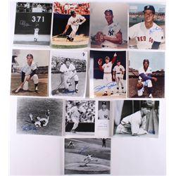 Lot of (12) Signed Baseball 8x10 Photos with Pete Rose, Joe Pepitone, Cleon Jones, Bob Feller (JSA C