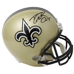 Drew Brees Signed New Orleans Saints Full-Size Helmet (Schwartz Sports COA)