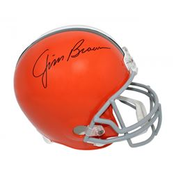 Jim Brown Signed Cleveland Browns Full-Size Helmet (Schwartz Sports COA)