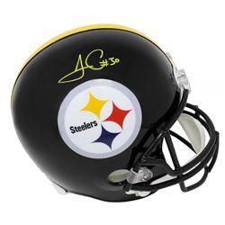 James Conner Signed Pittsburgh Steelers Full-Size Helmet (Schwartz Sports COA)