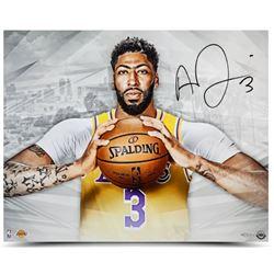 Anthony Davis Signed Los Angeles Lakers 16x20 Photo (UDA COA)