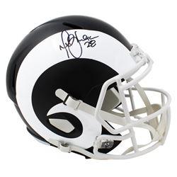 Marshall Faulk Signed St. Louis Rams Full-Size Matte Black Speed Helmet (Schwartz Sports COA)