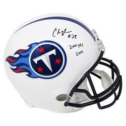 "Chris Johnson Signed Tennessee Titans Full-Size Helmet Inscribed ""2006 Yds 2009"" (Schwartz Sports CO"