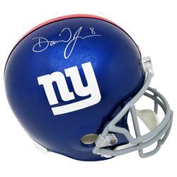Daniel Jones Signed New York Giants Full-Size Helmet (Schwartz Sports COA)