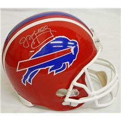 Jim Kelly Signed Buffalo Bills Full-Size Throwback Helmet (Schwartz COA)