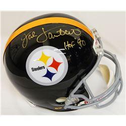 "Jack Lambert Signed Pittsburgh Steelers Full-Size Throwback Helmet Inscribed ""HOF '90"" (Schwartz Spo"