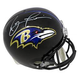 Ray Lewis Signed Baltimore Ravens Full-Size Helmet (Beckett COA)