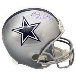 "Bob Lilly Signed Dallas Cowboys Full-Size Helmet Inscribed ""HOF '80"" (Schwartz Sports COA)"