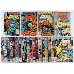 "Lot of (24) 1981-1990 ""Batman"" 1st Series DC Comic Books"