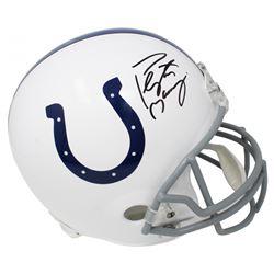 Peyton Manning Signed Indianapolis Colts Full-Size Helmet (Schwartz COA)
