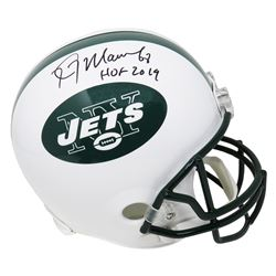 "Kevin Mawae Signed New York Jets Full-Size Helmet Inscribed ""HOF 2019"" (Schwartz Sports COA)"