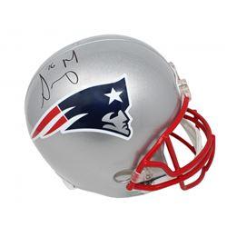 Sony Michel Signed New England Patriots Full-Size Helmet (Schwartz Sports COA)