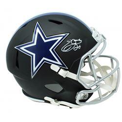 Emmitt Smith Signed Dallas Cowboys Full-Size Matte Black Speed Helmet (Schwartz Sports COA  Prova CO