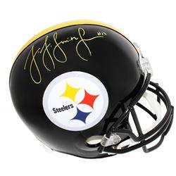 JuJu Smith-Schuster Signed Pittsburgh Steelers Full-Size Helmet (Schwartz Sports COA)