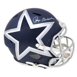 Roger Staubach Signed Dallas Cowboys Full-Size AMP Alternate Speed Helmet (Schwartz COA)