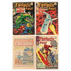 "Lot of (4) 1967-1968 ""Fantastic 4"" 1st Series Marvel Comic Books"
