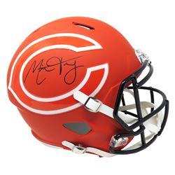 Mitch Trubisky Signed Chicago Bears Full-Size AMP Alternate Speed Helmet (Fanatics Hologram)
