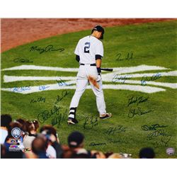 New York Yankees 16x20 Photo Signed by (21) with Jeff Nelson, Todd Zeile, Shane Spencer, Chris Widge
